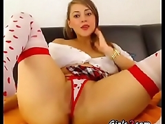 Teen reveals her pussy and tits