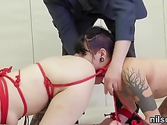 Foxy sweetie is brought in butt hole loony bin for uninhibited treatment