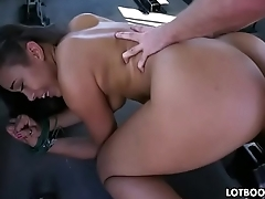 Adorable fat ass ebony Adriana Maya and white cock