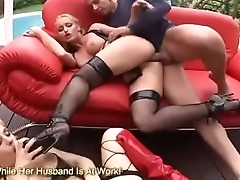 Two MILFs Service A Hard Dick With Their Assholes