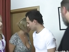 Family fucks their son'_s girlfriend