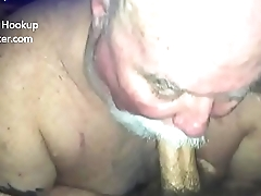 Chubby SIlverdaddy Sucks My Cock and Eats my Ass