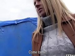 Public Blowjob With Sexy Amateur Czech Teen For Money 11