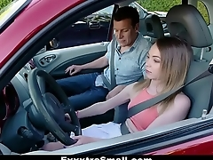 ExxxtraSmall - Ass Fucked By Her Driving Professor