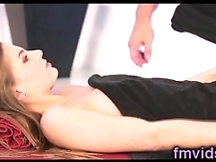 Sydney Cole with horny masseur