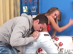 Wild anal pumping for charming chick