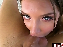 Six-Foot Tall Young Beauty Elena Koshka Licking Director'_s Cock &amp_ Asshole