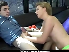Slutty amateur babe is paid cash from some crazy public sex 10