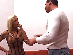 Who'_s the boss, slut? Suck my cock and shut up!