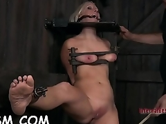 Caged up girl needs torment