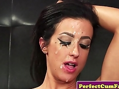 Cum craving brit gf wants a gooey facial