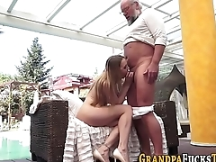 Whore rides senior oldy