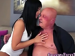 Teen gets senior cumshot