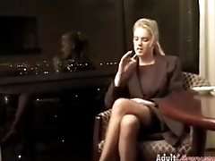 secretary smoking