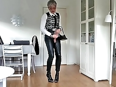Sissy Hot Sexy Leather Pants