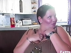 Bigtitted BBW titfucking after blowjob