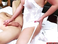 Big tit ts Carol Penelope anal bangs guy and anal rides him