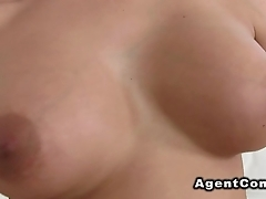 Busty amateur babe likes agents dick after casting