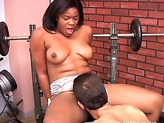 Super cute chubby black chick loves to suck cock and get her fat pussy eaten out