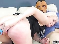 Horny sweetie is taken in asshole asylum for harsh therapy