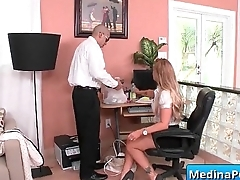 Secretary with big tits gets banged by her boss 16