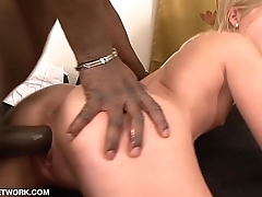 Black Guy Fucks Teen Young girl takes big cock in tight pussy Interracial