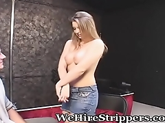 Young Casting Girl Wants It All
