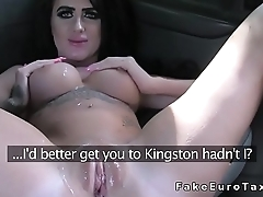 Busty amateur gets anal bang in fake taxi
