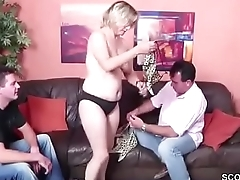 German Young Boys Seduce Milf to Fuck in Threesome