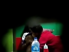 Hidden camera boyfriend sucking and pressing boobs of Gossaigaon hot girl