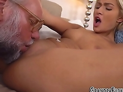 Young beauty spunks cock