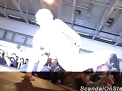extreme babe squirt on public stage