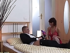 horny MIlf pumped and deep anal fucked