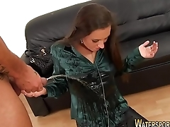 Slut gets goldenshowered
