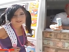 Gullibleteens.com icecream truck 18 year old roller skates cock for first time