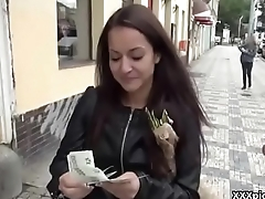 Teen Euro Slut Gives Head For Cash In Public 17