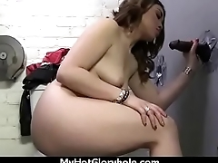 Gloryhole Ebony Girl Booty Shake and Suck 10