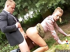 Piss loving whore riding