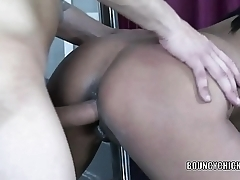Busty MILF Syanne Simmons takes some dick from a stranger